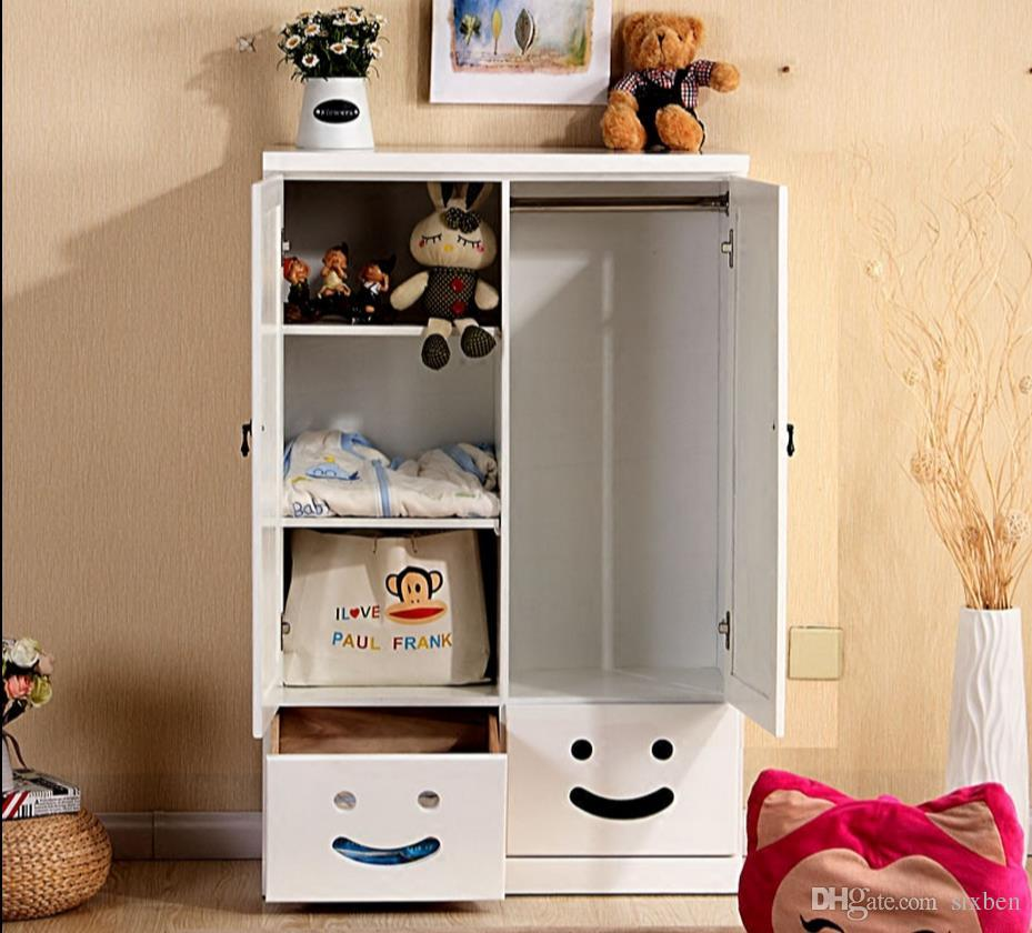 2018 Cartoon Baby Closet Door Storage Storage Cabinets Solid Wood