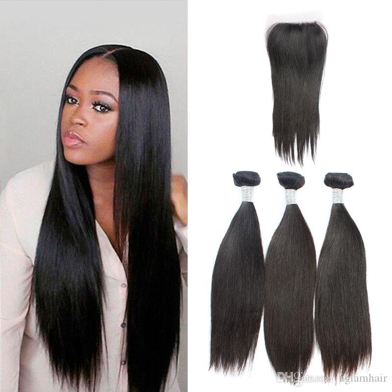 2018 Unprocessed Hair Extensions Silky Straight Brazilian Human Hair