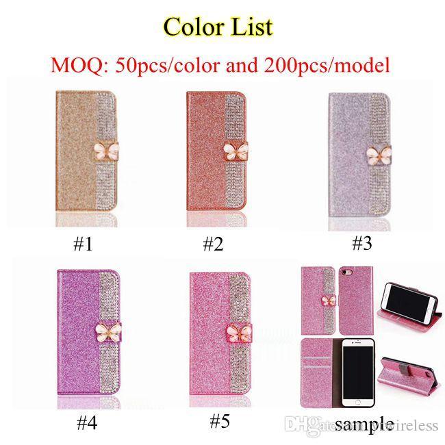 Für LG Stylo 3 Plus Stift 2 LS775 MS550 K20 Plus Aristo Luxus Glitter Bow Wallet Case Pouch Kreditkartenetui Gelb Abdeckung