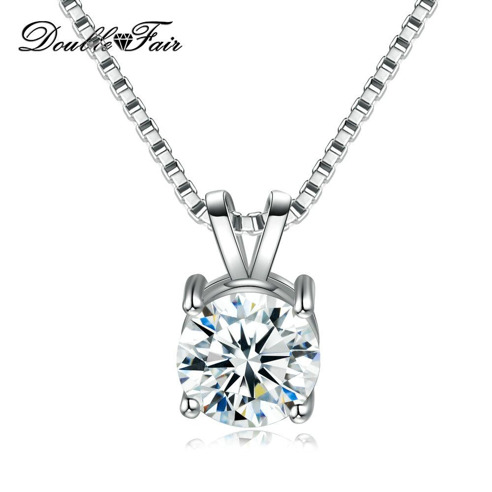 d6944878b43 Wholesale Simple Elegant Round CZ Diamond Necklace   Pendant White Gold  Plated Fashion Jewelry For Women Gift DFN613 Charms For Bracelets Mom  Pendant ...