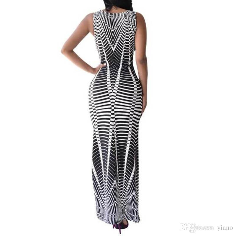 2017 Women Sexy Long Maxi Dress Summer Retro Style Beach Sundress Full Length Party Cocktail
