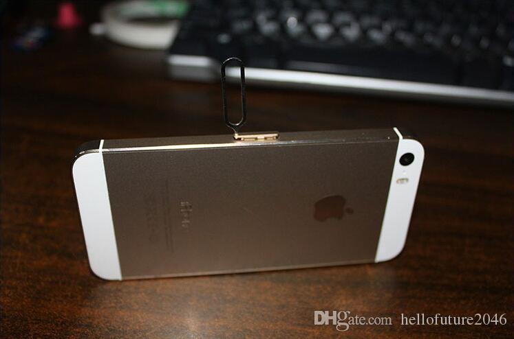 Nueva tarjeta SIM Aguja para Apple IPhone 7 6s 5 4 / 4S 3GS IPad 2 teléfono celular bandeja portaherramientas expulsar Pin metal