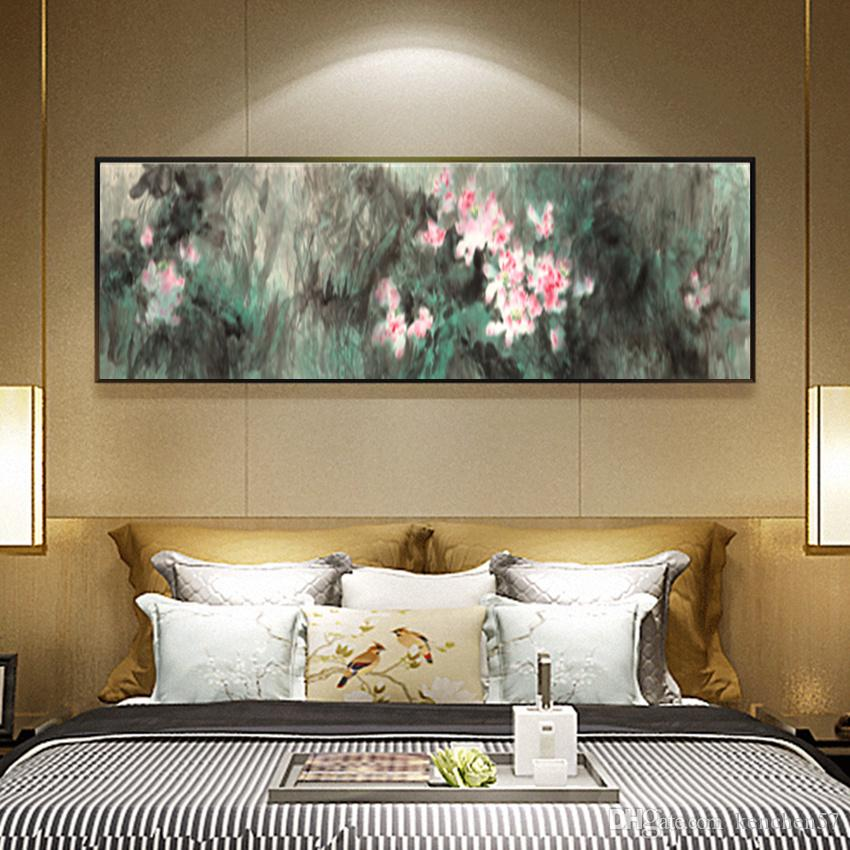 Chinese Ink Painting Lotus Flower HD Printed on Canvas Wall Art Picture Home Decor Living Room Impression Paintings Unframed
