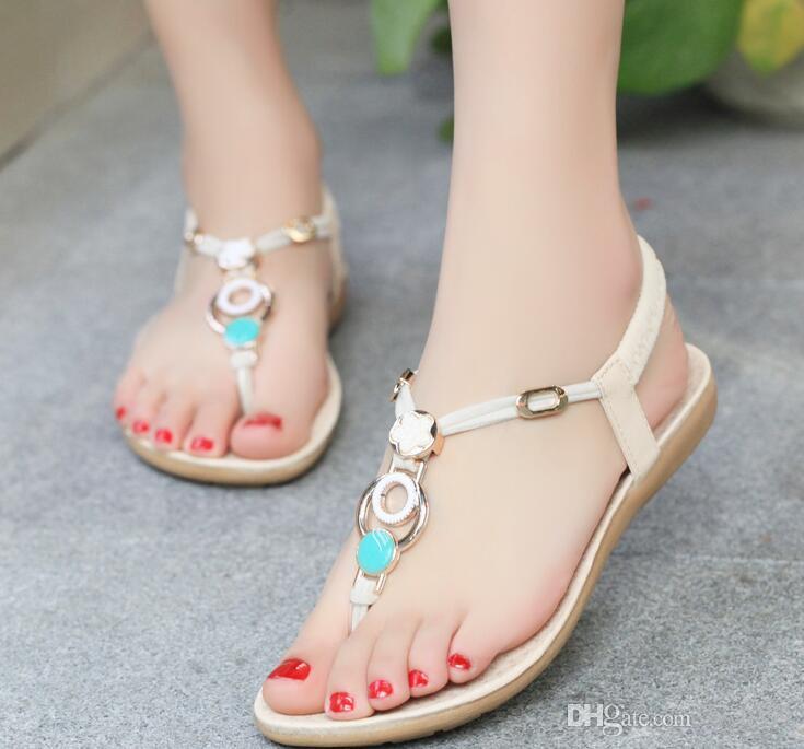 Novo estilo designer sapatos clipe toe sandálias planas lazer praia sapatos estudantes espinha de peixe maré frete grátis