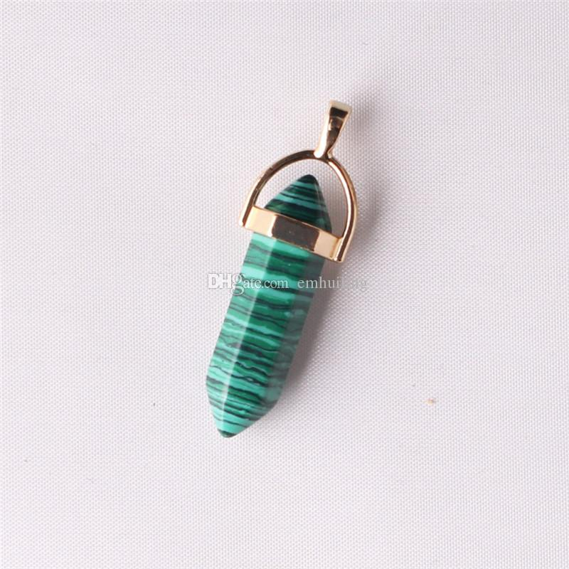 Good Luck Charm Stunning Purple Agate Gold Plated and Bail Chain Necklace Ideal Green Jade Pendant 32*8mm Point Pendulum Everyday Necklace