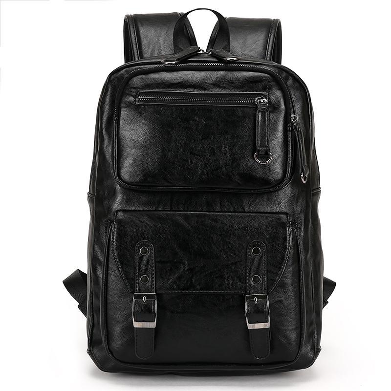 2017 Male Leather Backpack Men Travel Backpacks Mochila Masculina ...