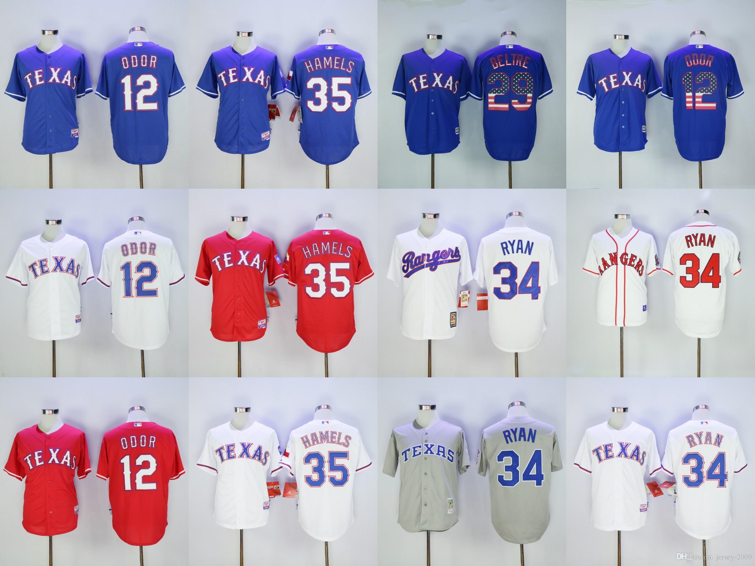 2017 2015 Cool Base Texas Rangers 34 Nolan Ryan 29 Adrian Beltre 12 Rougned  Odor Blue Womens Texas Rangers Jerseys ... e4d6ee77a