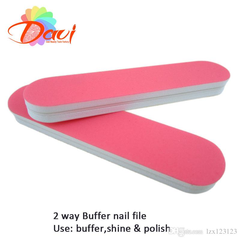 Pink Mini Nail File For Nail Buffer File Nail Art With 89mm Length ...