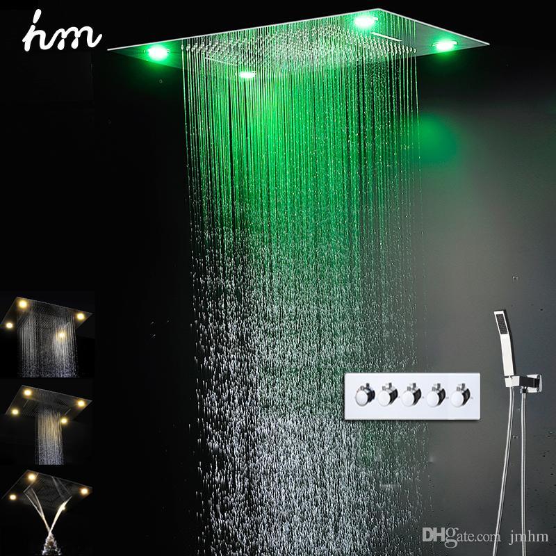 european 304 stainless steel shower recessed rain shower waterfall