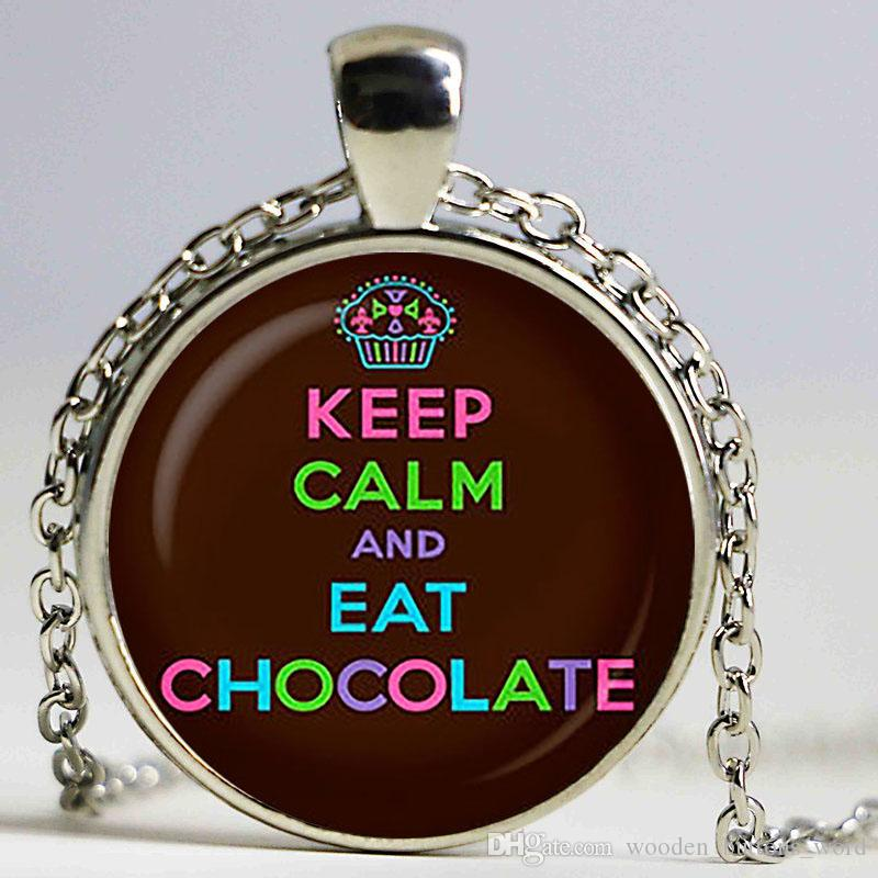 Wholesale Keep Calm And Eat Chocolate Pendant. Keep Calm Necklace ...