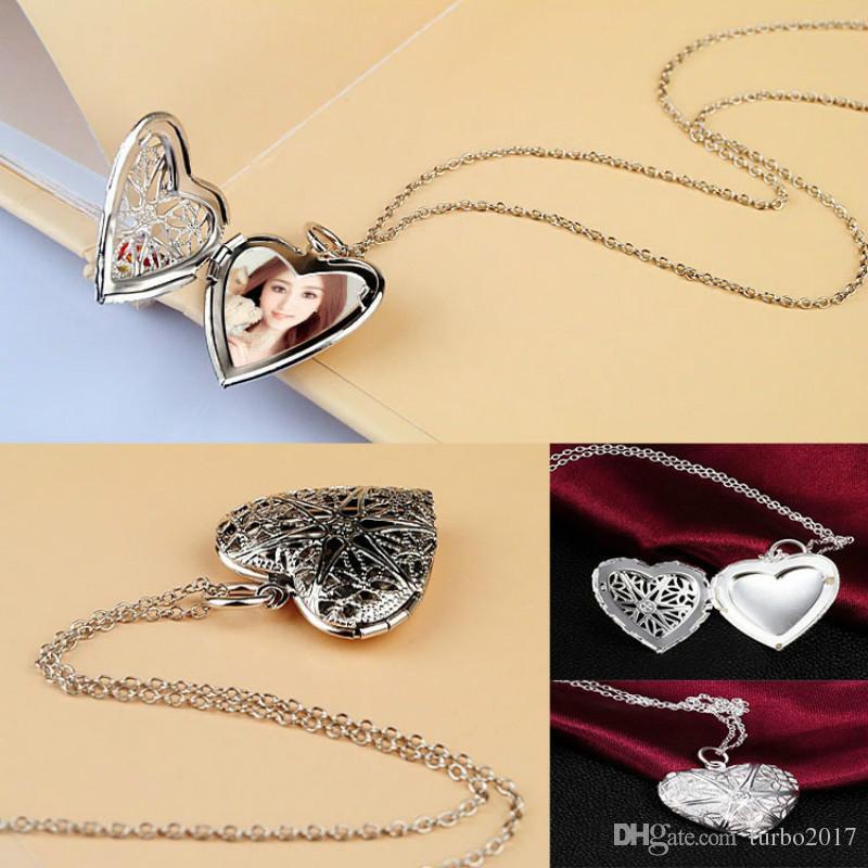 Großhandel Herz Anhänger Halsketten Frauen Bilderrahmen Herz ...