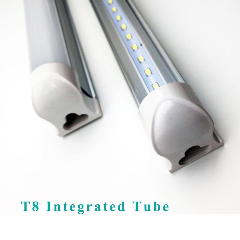 Integrated LED T8 Tube 0.6m 12W 0.9m 16W 1.2m 22W 1.5m 28W 1.8m 34W 2.4m 45W 4200LM SMD2835 2 3 4 5 6 8 Feet Light led lighting fluorescent