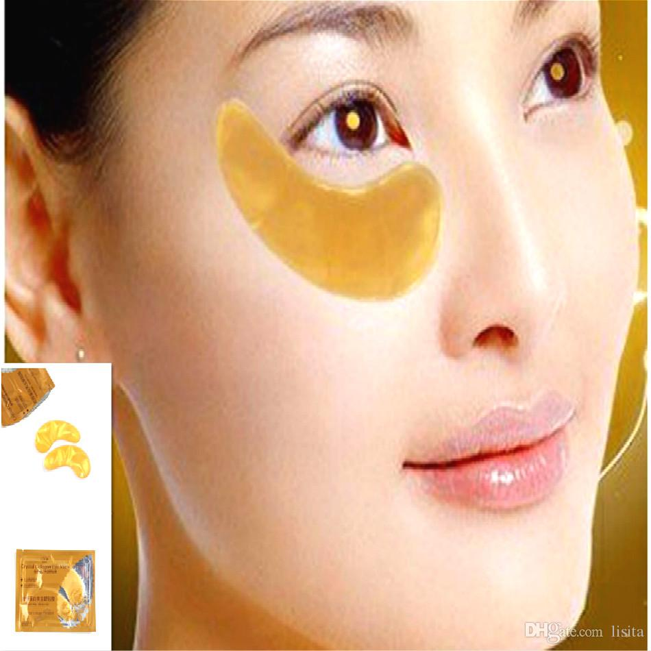 LISITA Maschera occhi dorati Cristallo le palpebre Patch / Cristallo Maschera occhi al collagene Maschera dorata Cerchio scuro Anti-Aging