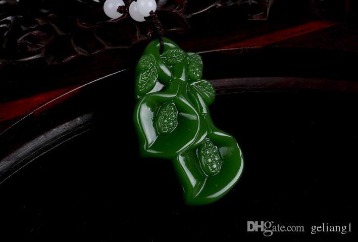 Магнолия ручной работы из яшмы. Благоприятный кулон ожерелье.