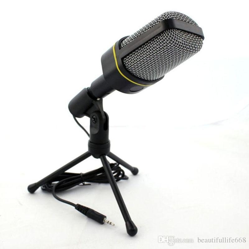 Professionale Condensatore Home Audio Studio Sound Recording Microfono 3.5mm Jack Mic Shock Mount Skype Desktop PC notebook notebook