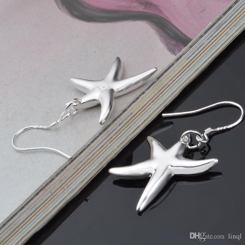 Haute qualité prix d'usine Populaire 925 Sterling Argent bijoux de mode femmes stud boucle d'oreille bijoux bateau libre N46