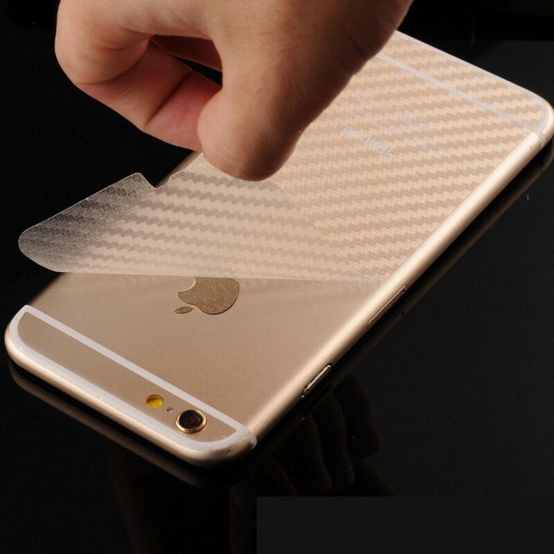 size 40 aec8d 12d3a Durable 3D Anti-fingerprint Transparent Carbon Fiber Back Film Screen  Protector For iPhone 6 6s 7 / 7 Plus Protective Guard