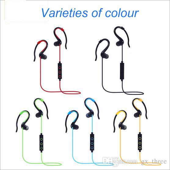 Black colour Hang-ear Earphone Bluetooth 4.1 bilateral Stereo Earphone Fashion Sport Headsets Studio Music Earphone With Mic Retail Box