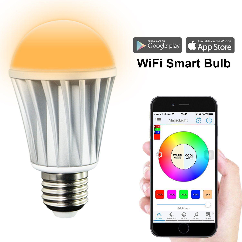 Magicbulb Wifi Smart Led Light Bulb Smartphone Controlled Sunrise ...