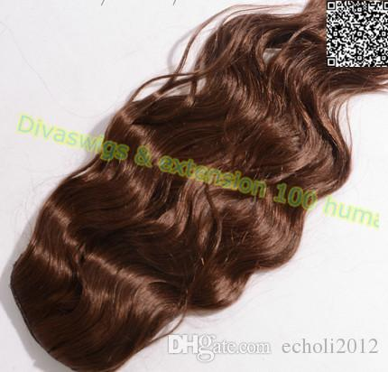 dora brown body wave ponytails natural hair for black woman ponytail human hair wet wavy ponytail hair extensions