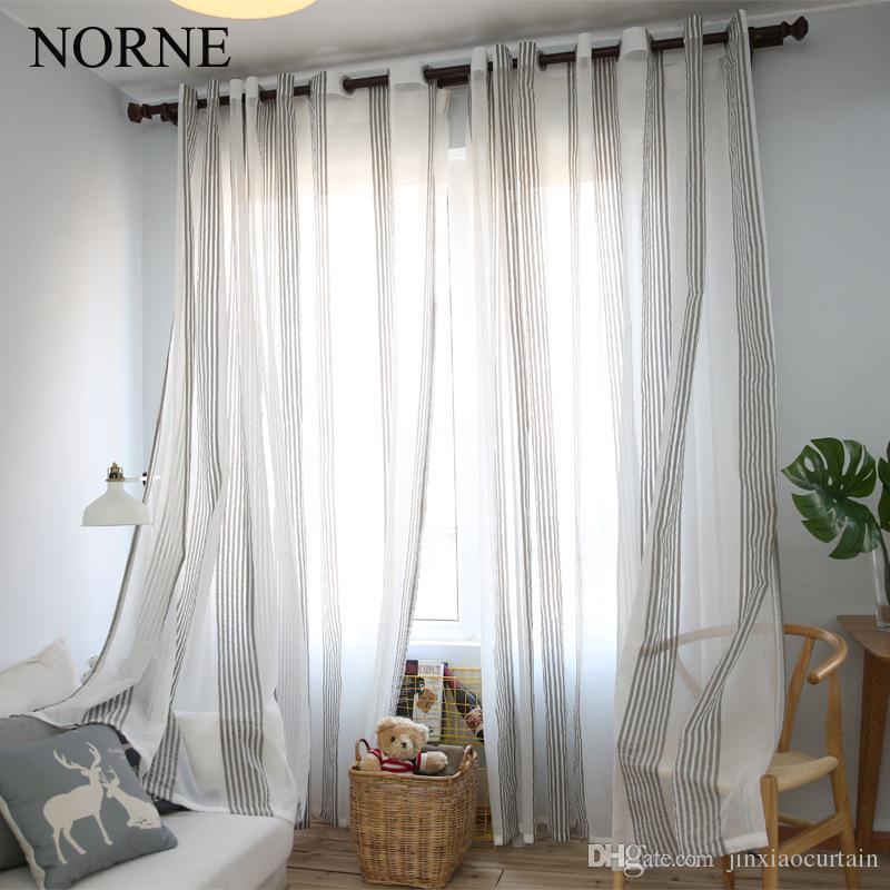 Großhandel Norne Modern Tüll Fenstervorhänge Für Wohnzimmer Das ...