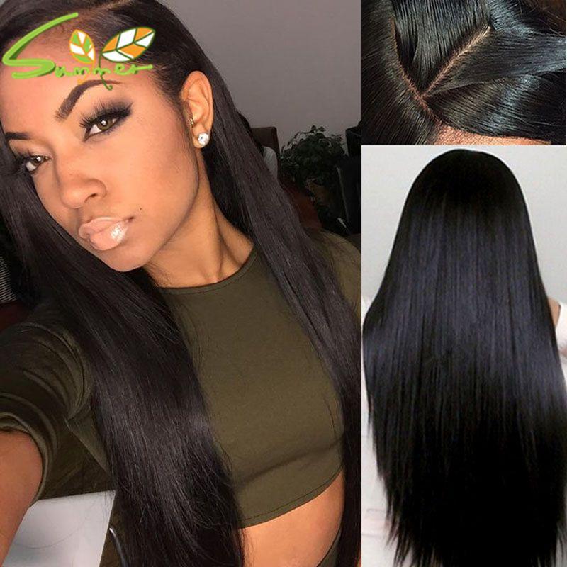 8A alta calidad de seda pelucas llenas del cordón pelucas peruanas con cabello de bebé pelucas de cabello humano frente del cordón