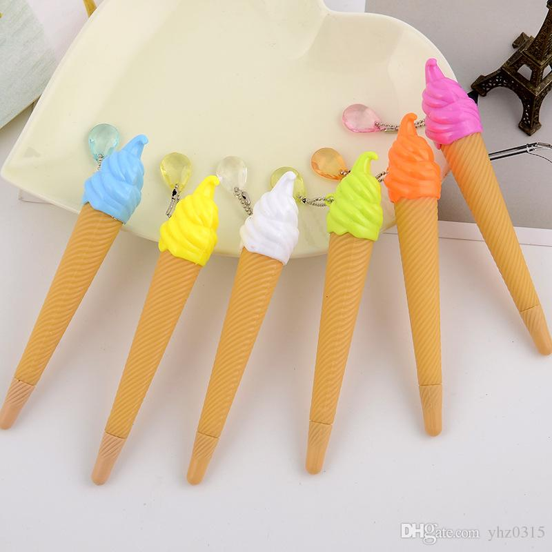 Wholesale 200pcs New Fashion Korea Creative Stationery Ice Cream Candy Color Gel Pen Student Learning Office Supplies