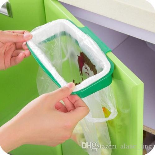 Neueste Mode Müll Müllsack Rack Befestigen Halter / Über Schrank schranktür Küche liefert Farbe: Grün