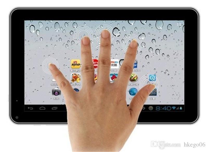 Tablette A33 Quad Core 9 pouces Allwinner Tablette A33 8 Go avec caméra double WiFi lampe de poche arrière Bluetooth OTG DHL Free