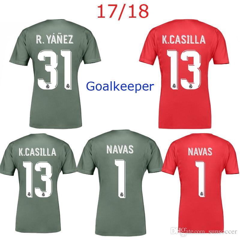 058beabb4 greece soccer men short 2017 2018 real madrid goalkeeper soccer jerseys 17  18 football shirt navas