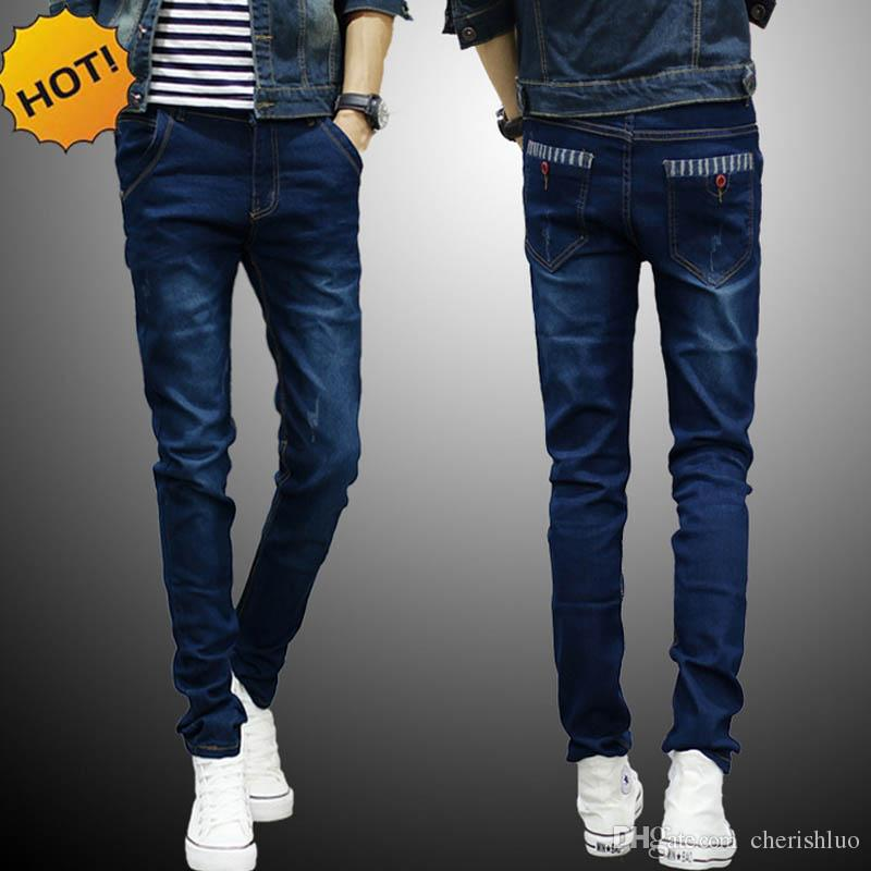 12ee666dd9 New 2017 Spring Autumn Cheap Hip Hop Pencil Pants Skinny Jeans Men ...