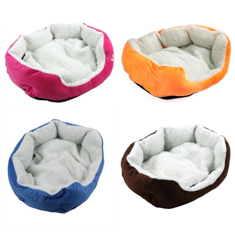 Cute Soft Dog Cat Pet Bed Mini House for Candy Colored Dogs Beds Soft Warm Pet House Kennel for Puppy Cat Pet Dog Supplies