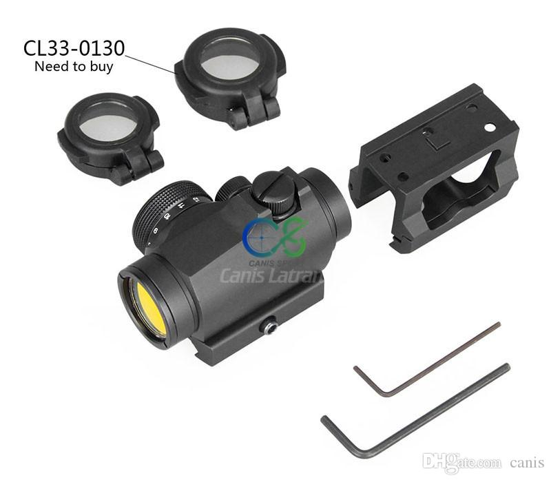 PPT Tactical 1x Red Dot Scope with Riser Mount Black Color for Outdoor Hunting CL2-0106B