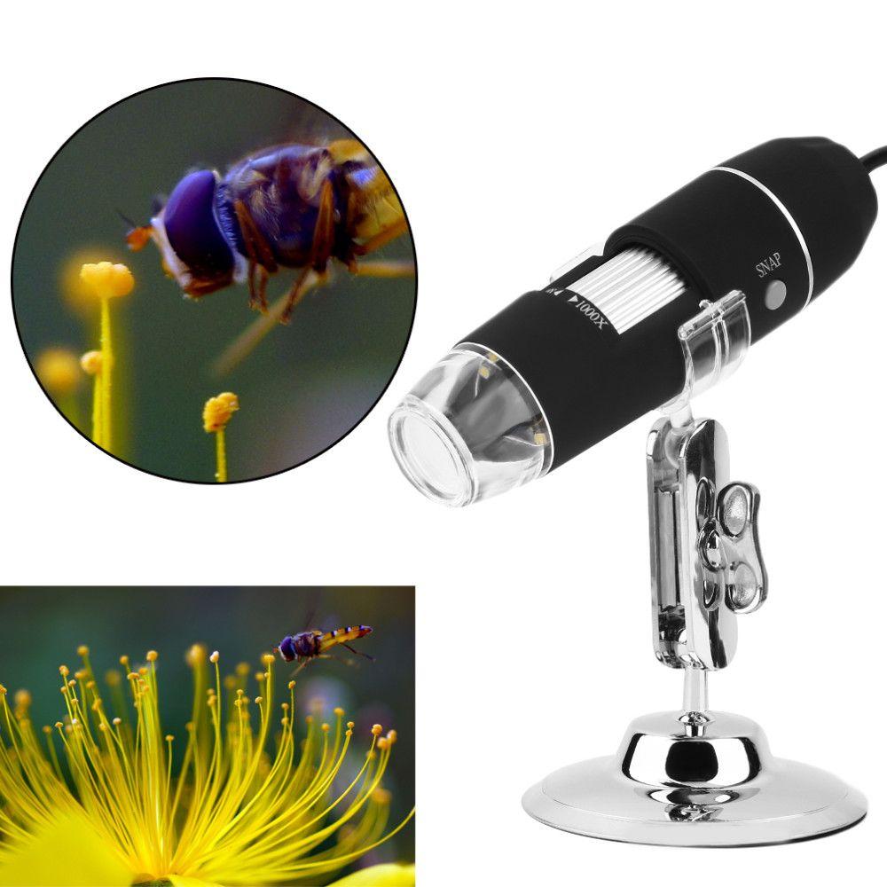 20 unids Nueva Mega Píxeles 1000X 8 LED USB Microscopio Digital Endoscopio Cámara Microscopio Magnifier Z P4PM