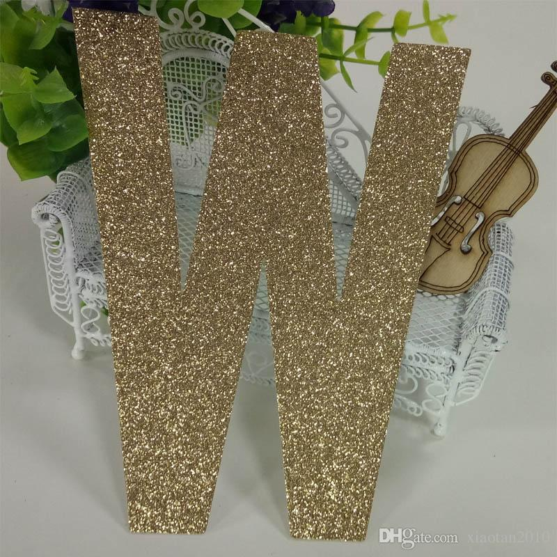 "Hot sale glitter paper ""M"" Decor Birthday Party New Year,Christmas ,Cake"