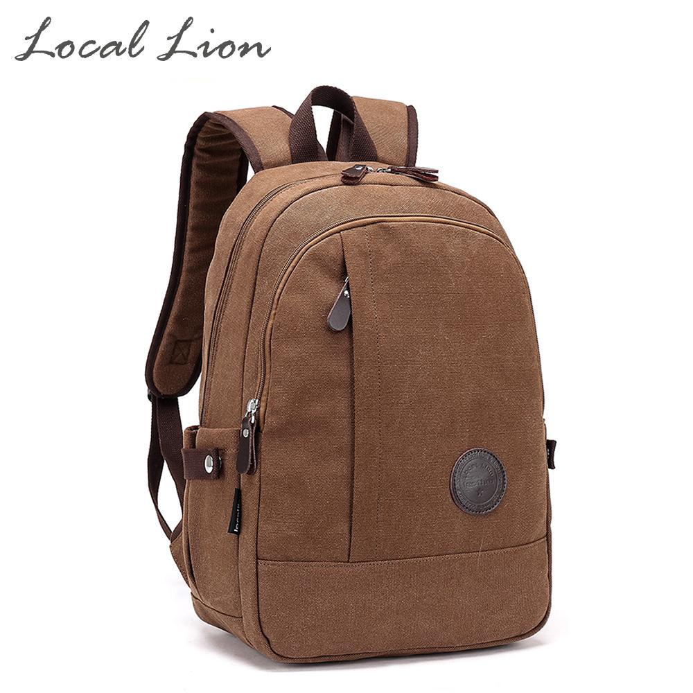 Wholesale LOCAL LION Canvas Casual Backpacks School Bag For Girl Boy Water  Resistant Laptop Bag Men Women Shoulder Backpack HQB1776 Backpacks For  School ... f68d5d9f88