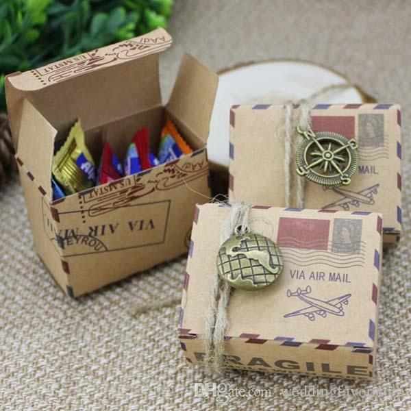 wholesale mail box design kraft paper candy boxes christmas