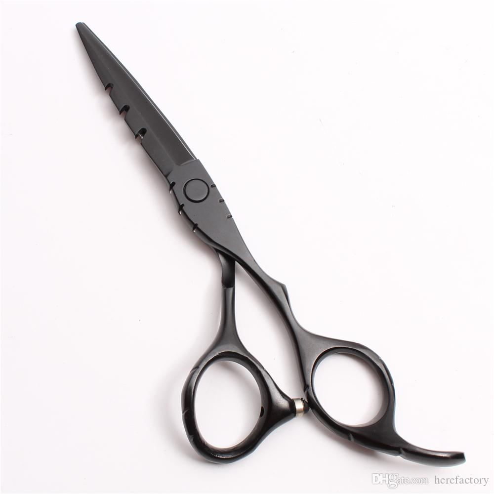 """C1010 6"""" Japan Customized Logo Black Professional Human Hair Scissors Barber's Hairdressing Scissors Cutting Thinning Shears Styling Tools"""