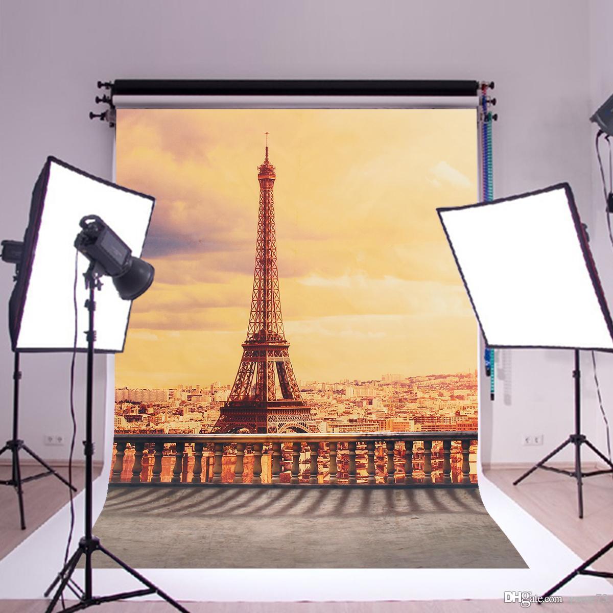 2018 Vinyl Paris Eiffel Tower Sunset Photography Studio Backdrop ...