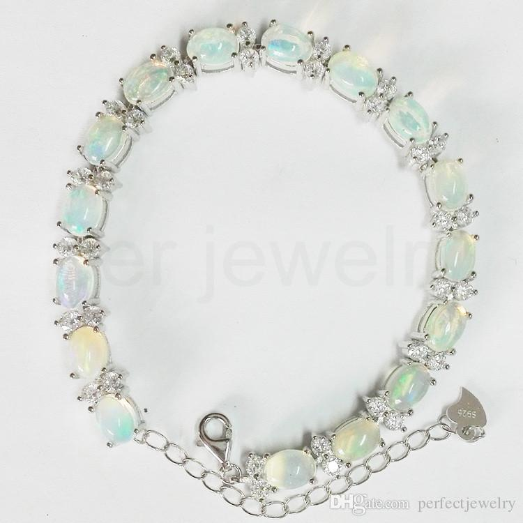 real fine gem for opal bangle natural women men silver store product or sterling chain bracelet jewelry