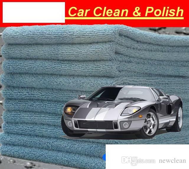 pro Los Mikrofaser-Reinigungstuch 40x40cm Für Autoreinigung Autopflege-Waschlappen Freies Verschiffen