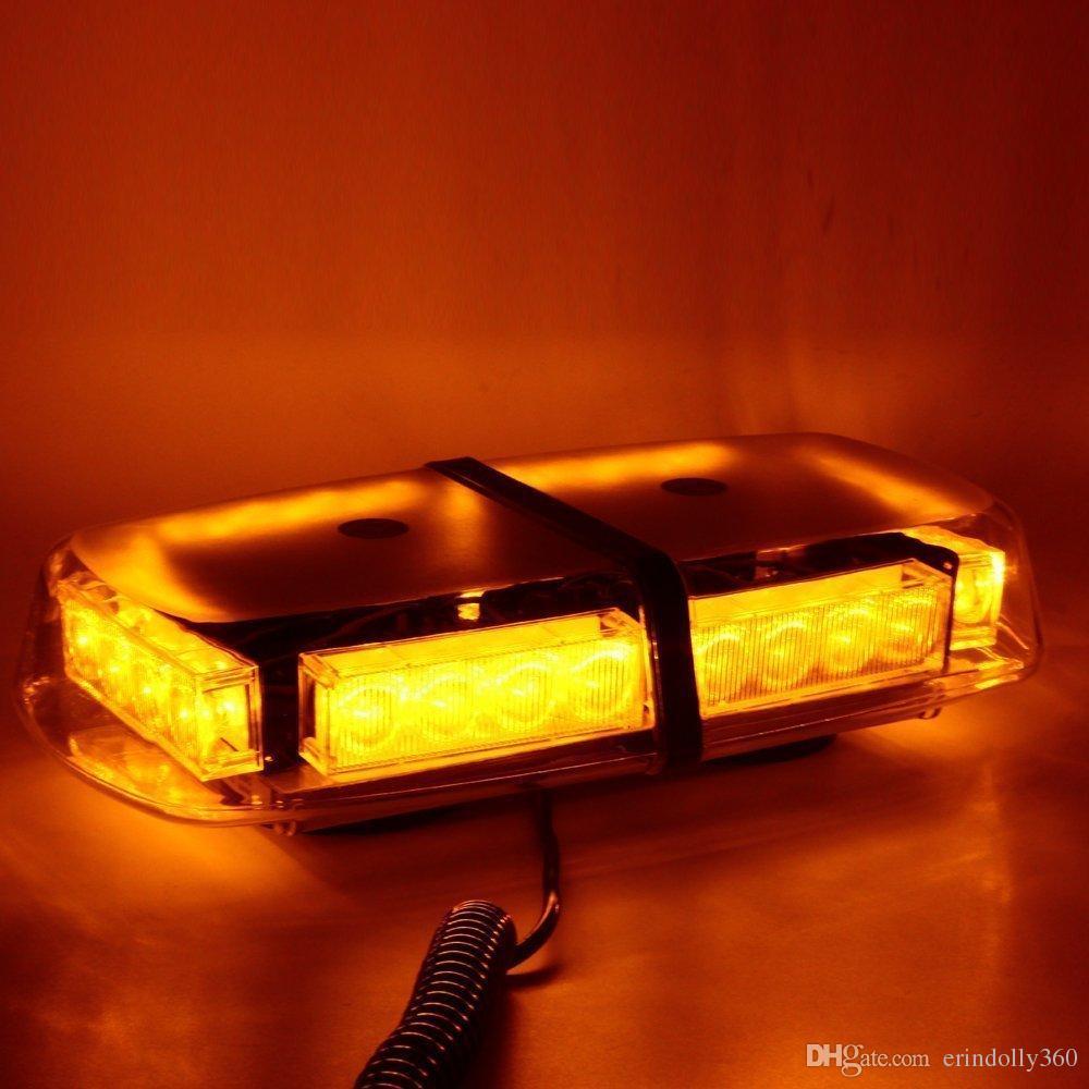 24 große LED Auto Strobe Light mit 7 Flash-Muster Emergency Security Hazard Warnung LED / Top Strobe Light mit Magnetfuß für Auto-LKW