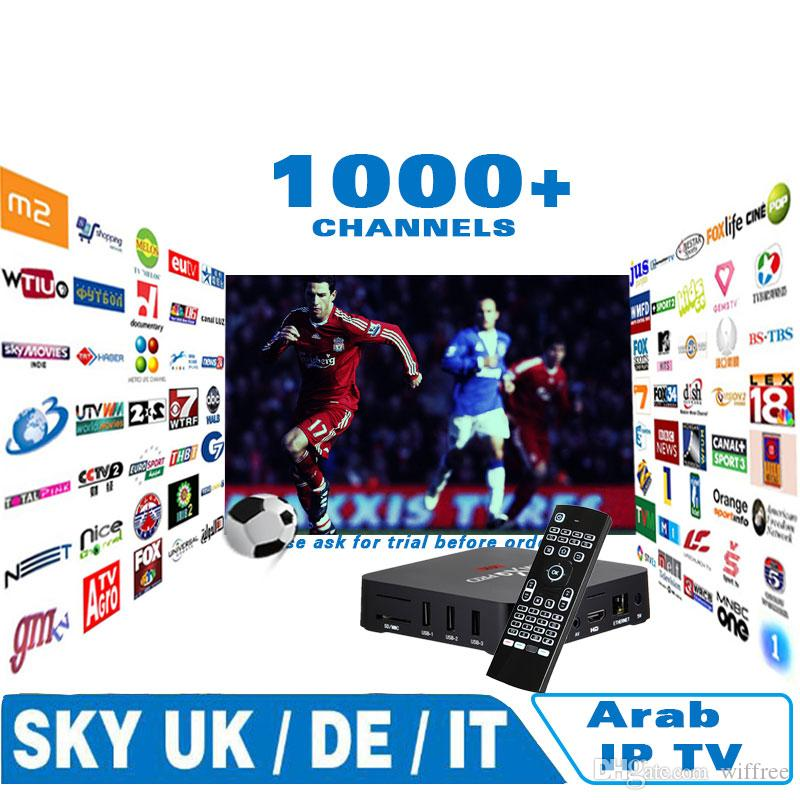 Best IPTV for Arabic Europe italy france 1000 channels,Android tv box set top Skyi news bbc Bein Sports on mag250 vu+ ios