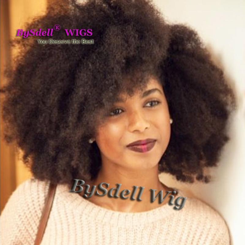 Sınıf 8A Afro Kinky Kıvırcık Tam Dantel Peruk Dantel Ön Peruk Bebek Saç Siyah Kadınlar Için 100% Brezilyalı İşlenmemiş Virgin İnsan Saç Peruk