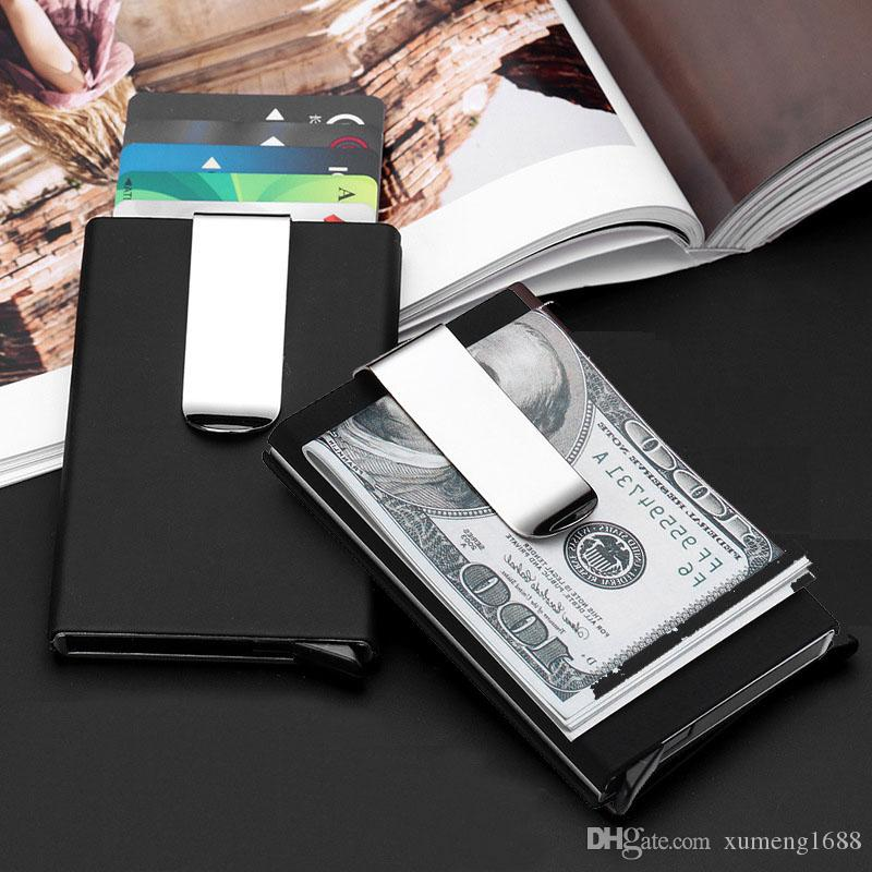 Portable travel card wallet automatic up id credit card holder men portable travel card wallet automatic up id credit card holder men women business card case stainless steel metal clip portable card wallet automatic card colourmoves