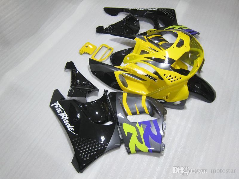 Fairing kit for Honda CBR 900RR 1996 1997 yellow black fairings set for CBR900RR 96 97 OT04
