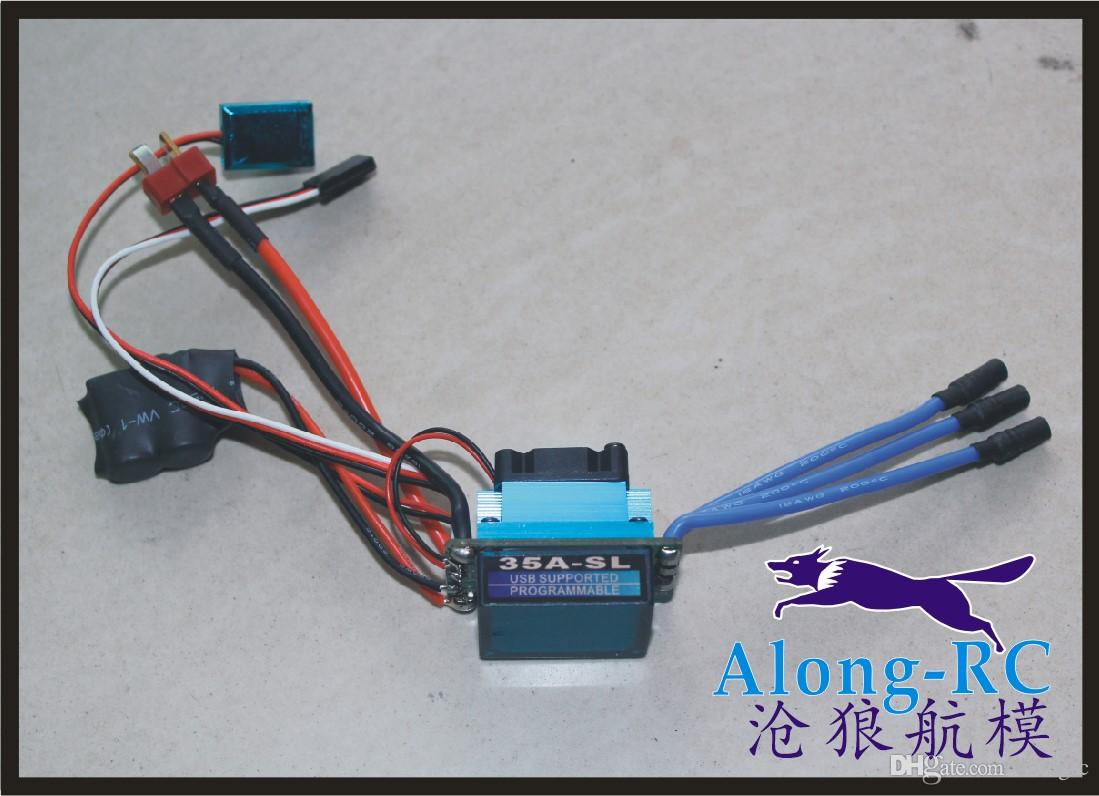 RC MODEL PART Racing 35A ESC Brushless Electric Speed Controller For 1:12 1:10 RC Car Truck
