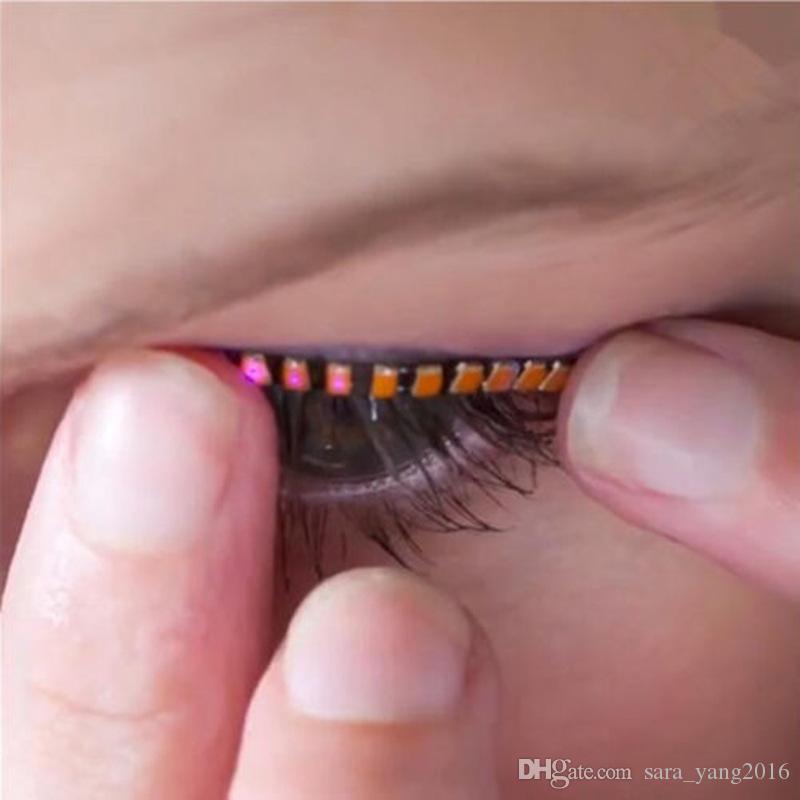 LED Flashing Eyelid False Eyelashes Eye Beauty Cosmetic Makeup LED Lashes False Eyelash For Party Players wa4202