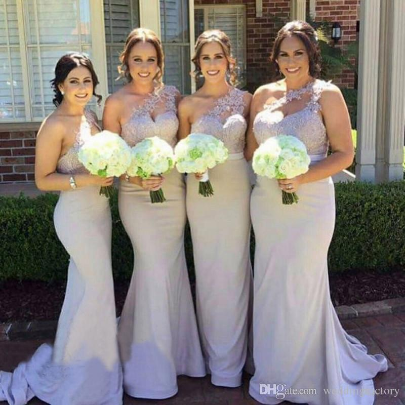 a84b420cb96 Vintage Long Formal Country Bridesmaids Dresses Asymmetrical One ...