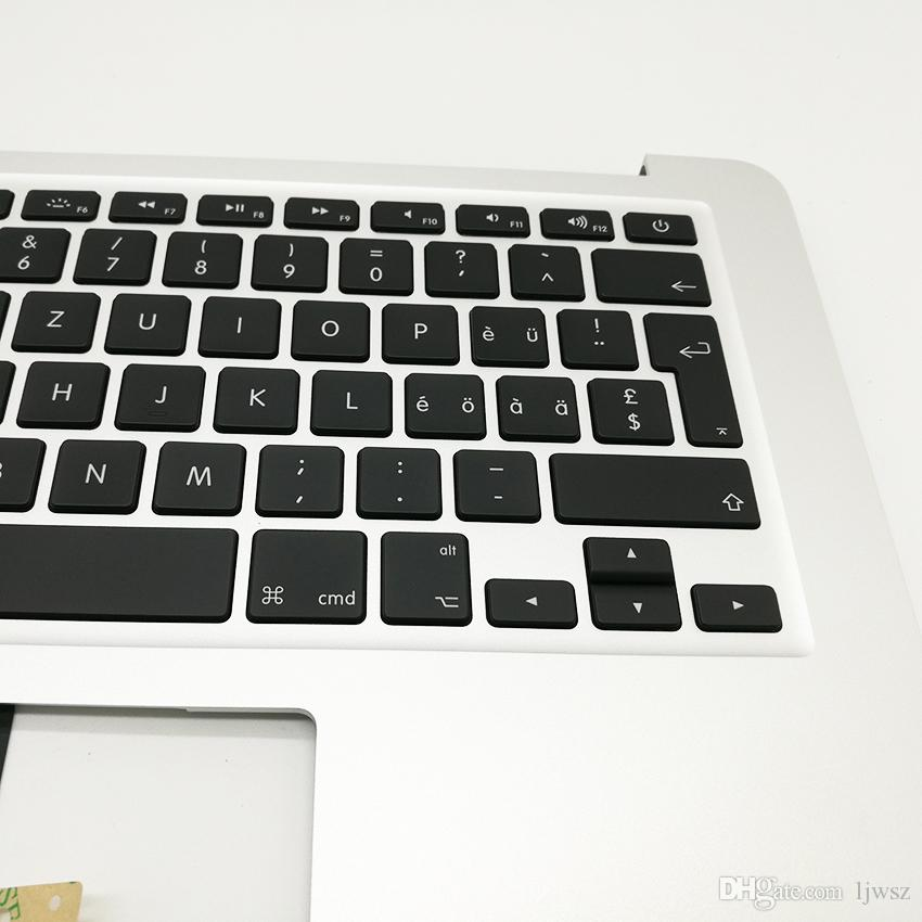 """Swiss Top Case Palm rest For Macbook Air 13"""" A1466 Topcase keyboard Switzerland Layout 2013 2014 2015 Year"""
